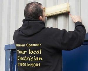 Local NICEIC electrician external security lighting