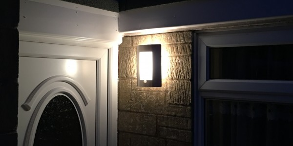 Worcester electrician fitted outdoor lights